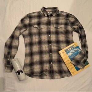 Old navy white and grey flannel
